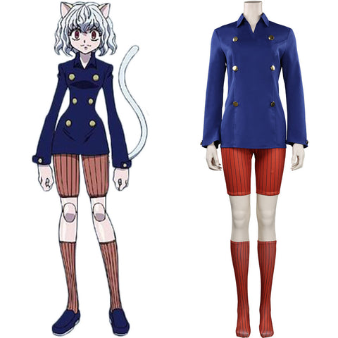 Hunter x Hunter Halloween Carnival Suit Neferpitou Cosplay Costume Outfits
