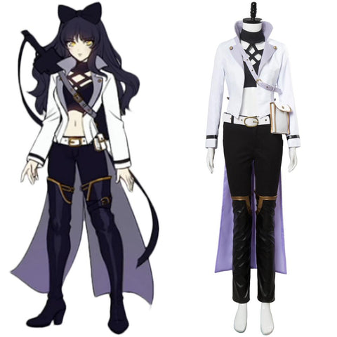 RWBY 3 Blake Belladonna Battler Costume Outfit Cosplay Costume