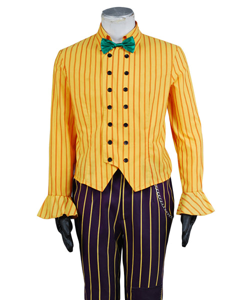 Batman Arkham Asylum Joker Cosplay Costume Coat Suit
