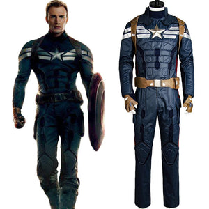 0fe61f1f07bf Captain America 2 The Winter Soldier Steve Rogers Uniform Outfit Cosplay  Costume