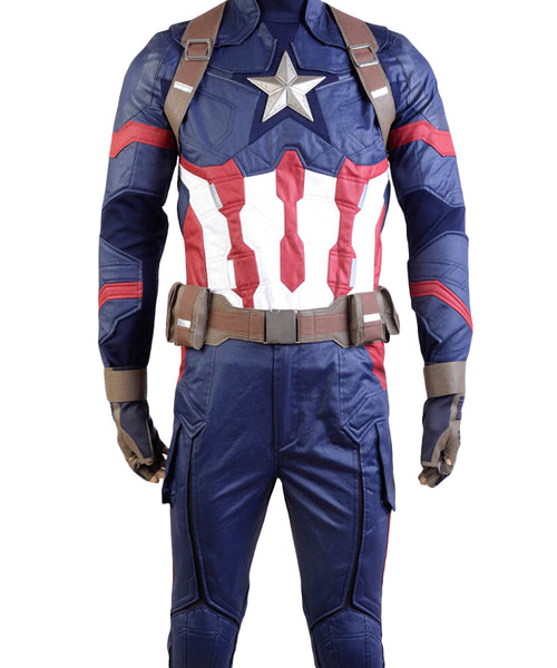 Captain America: Civil War Steve Rogers Uniform Cosplay Costume