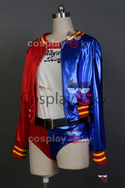 DC Comics Suicide Squad Harley Quinn Coat Cosplay Costume