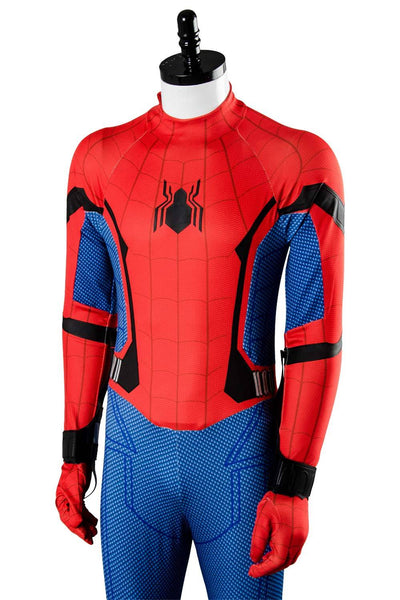 2017 Movie SpiderMan Homecoming Spider man Jumpsuit Cosplay Costume