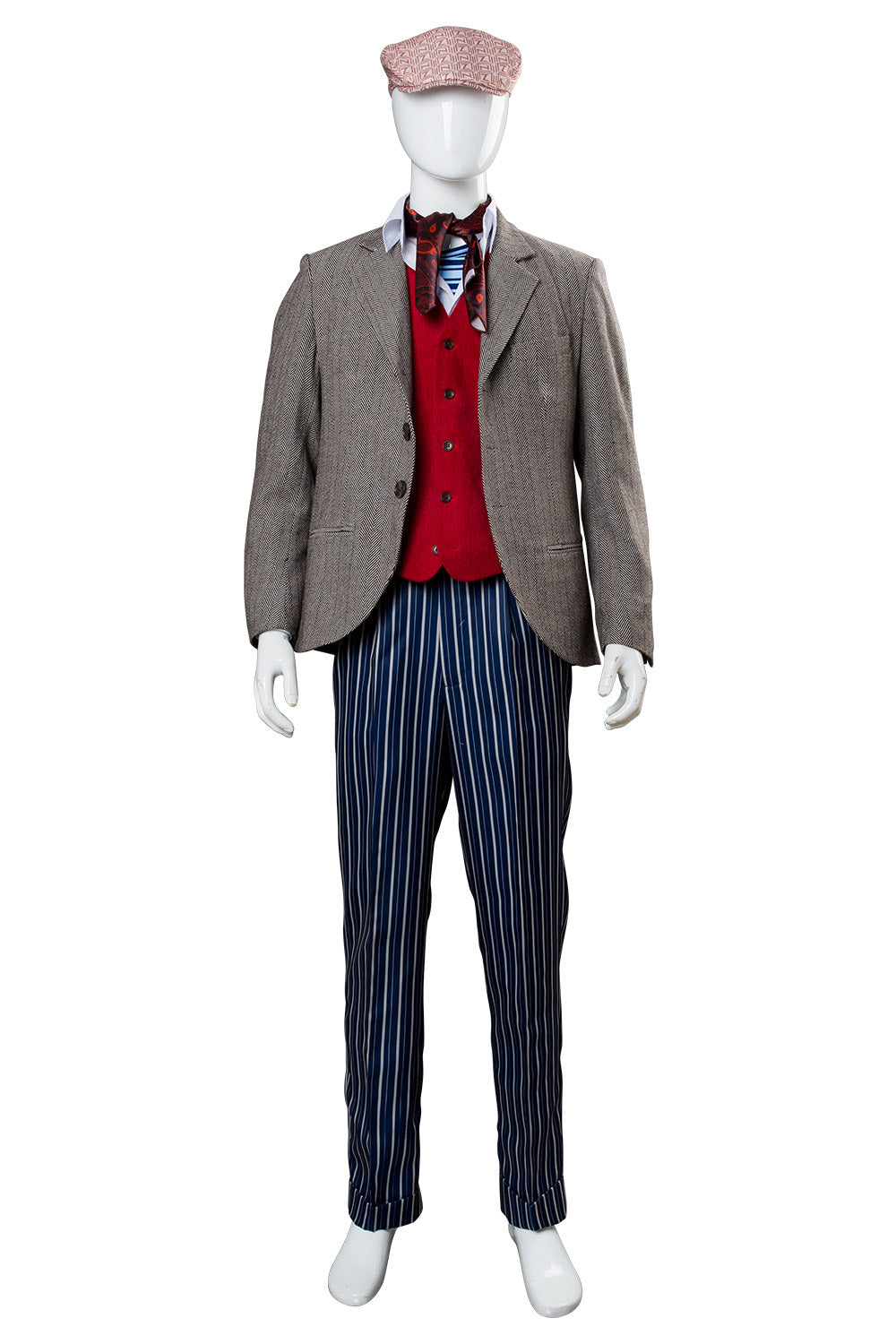 1930s Men's Costumes: Gangster, Clyde Barrow, Mummy, Dracula, Frankenstein 2018 Mary Poppins Returns 2 Lin-Manuel Miranda Jack Cosplay Costume $146.00 AT vintagedancer.com