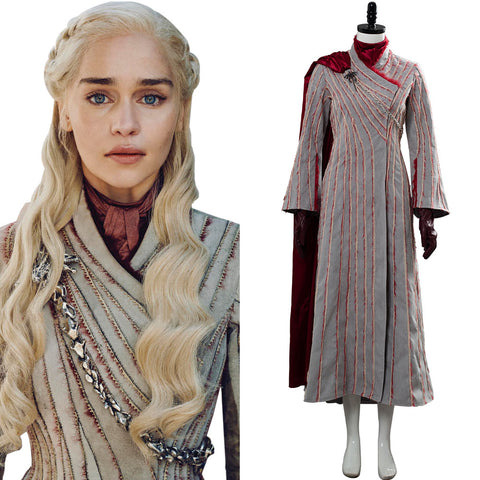 Game of Thrones Season 8 S8 Daenerys Targaryen Dany Spring Outfit Dragonstone Snow Dress