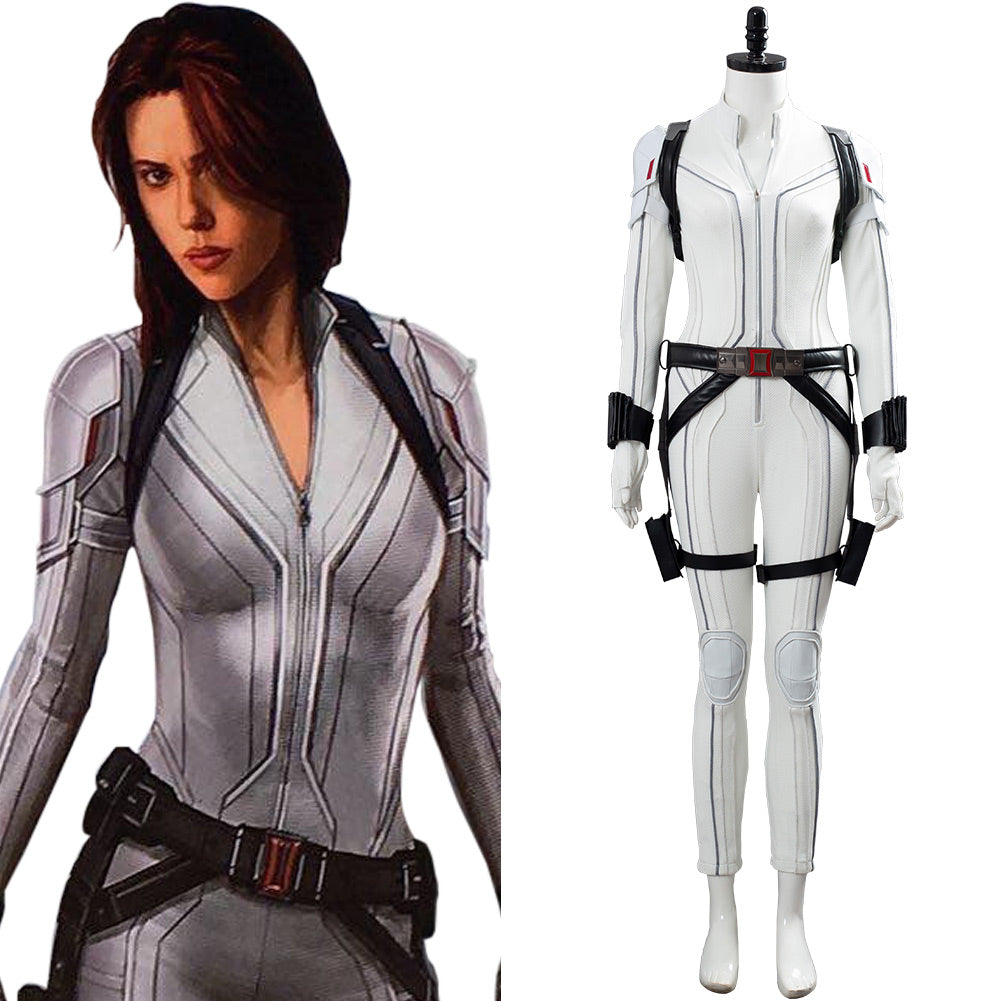 Shield Avengers Black Widow Movie Natasha Romanoff White Outfit Cosplay Costume