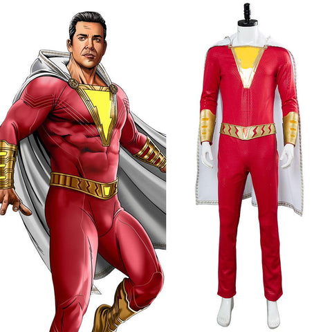 2019 Movie Shazam Billy Batson Outfit Cosplay Costume