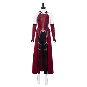 Wandavision Scarlet Witch Halloween Carnival Suit Cosplay Costume Outfits