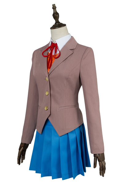 Doki Doki Literature Club Sayori Natsuki Yuri Monika Girls School Uniform Cosplay Costume