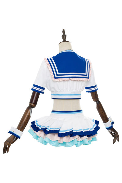 Love Live! Sunshine!! You Watanabe G's Magazine Sailor Suit Swimsuit Cosplay Costume