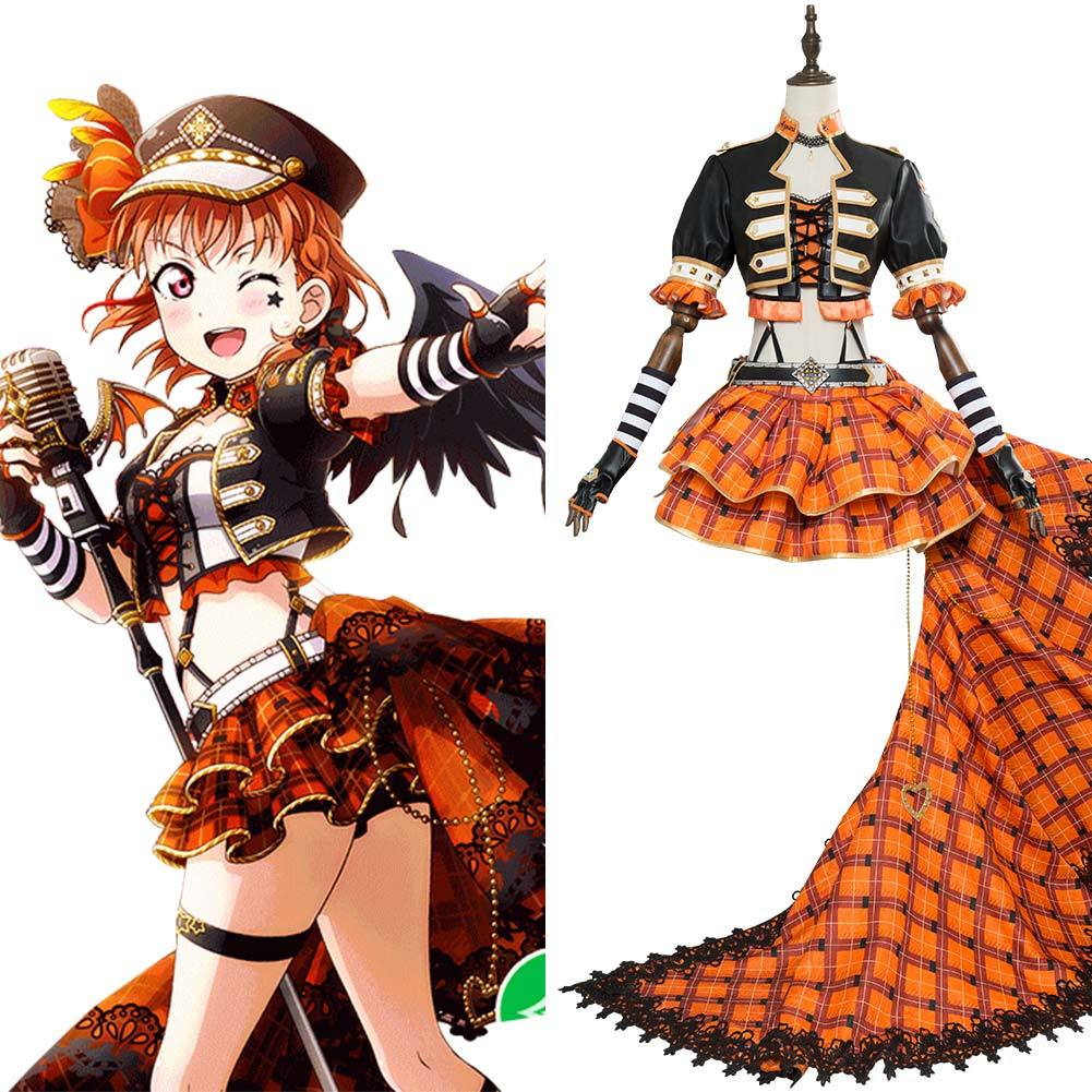 Love Live! Sunshine!! Chika Takami aqours Punk Rock  Dress Outfit Cosplay Costume