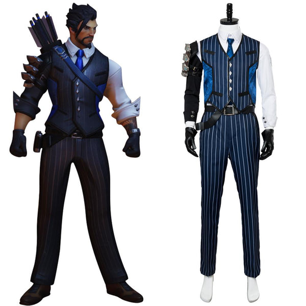Overwatch OW Shimada Hanzo Scion Hanzo Skin Outfit Suit Cosplay Costume