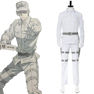 Cells at Work! White blood cell Neutrophil Cosplay Costume