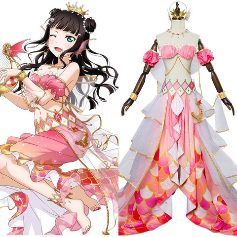 LoveLive Mermaid Festa Kurosawa Dia Cosplay Costume Awakening Dress
