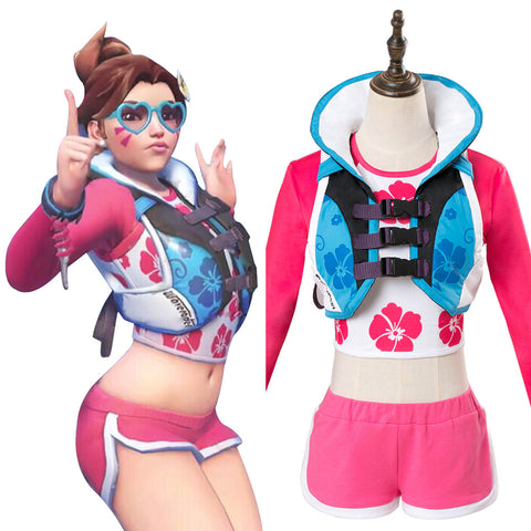 Overwatch D.Va DVA Hana Song Cosplay Costume Waveracer Skin Outfit