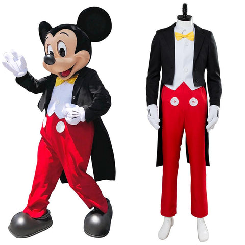 Mickey Mouse Dinner Suit Tuxedo Halloween Cosplay Costume
