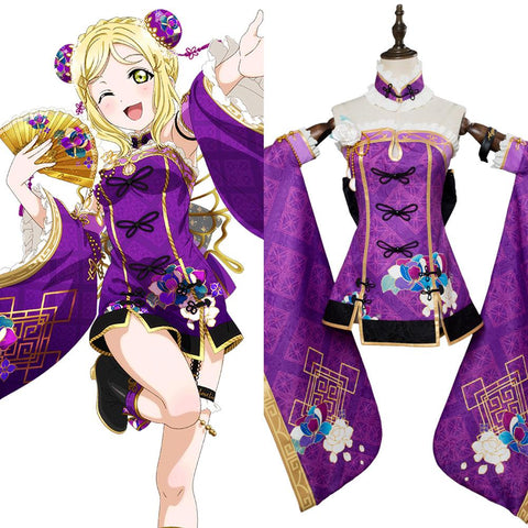 LoveLive Aqours China Dress Ver Mari Ohara Cosplay Costume