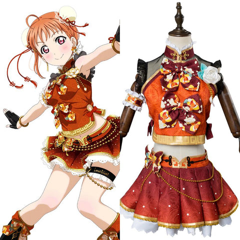 LoveLive Aqours China Dress Ver Takami Chika Cosplay Costume