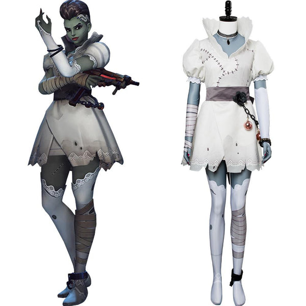 Overwatch Sombra Olivia Colomar Bride Skin Cosplay Costume