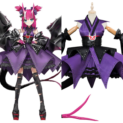 Fate/Grand Order Elizabeth Bathory Halloween Kimono Cosplay Costume