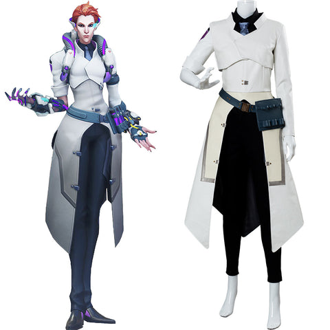 Overwatch Moira O'Deorain Scientist Skin Cosplay Costume