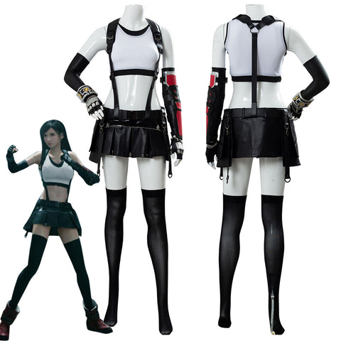 Final Fantasy VII 7 Remake Tifa Lockhart Costume Cosplay Uniform