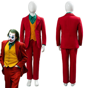 Joker Origin Romeo Joaquin Phoenix Arthur Fleck Costume DC Outfit Cosplay Costume For Kids