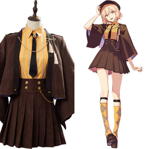 Fate Grand Order Okita Souji Outfit Cosplay Costume