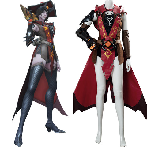 OW Ashe Game Warlorck Ashe Overwatch Outfit Cosplay Costume