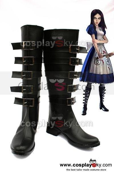 Alice Madness Returns Cosplay Boots Shoes Custom Made