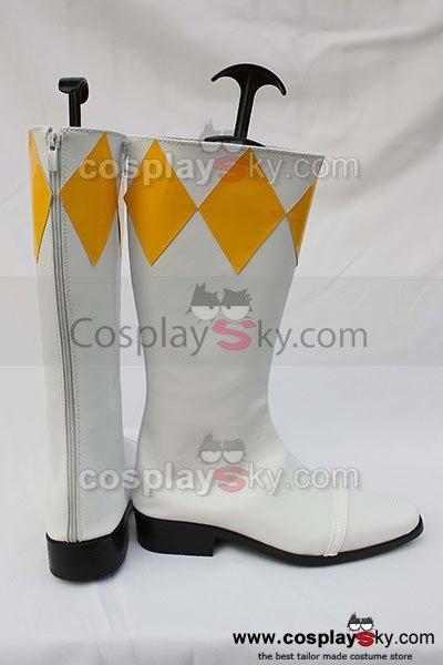 Mighty Morphin Power Rangers Boy Tiger Ranger Cosplay Boots Shoes