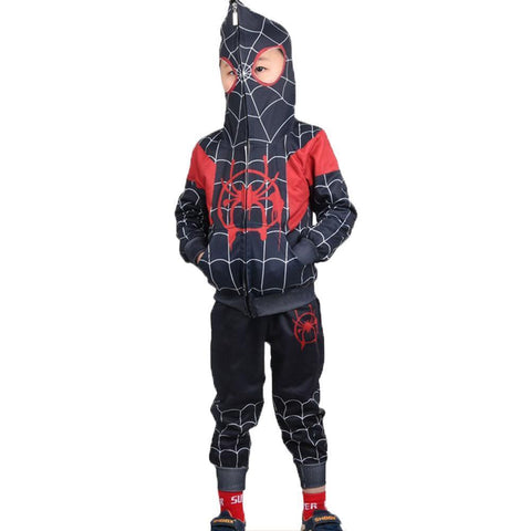 Spider-Man Hoodie Kids Spider-Verse Miles Morales Gwen Stacy Noir Peter Cosplay Costume