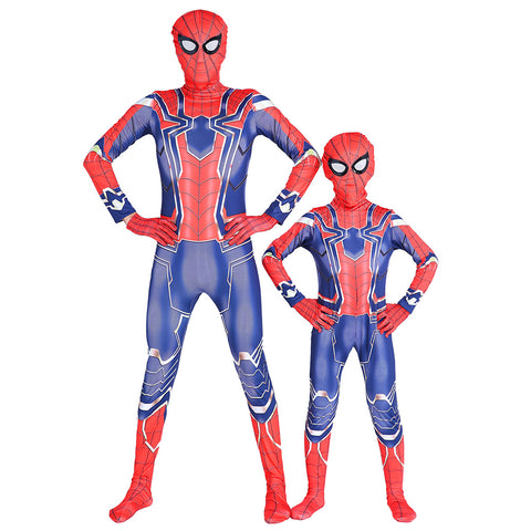 Avengers Spider-man Jumpsuits Costume Cosplay For Adult Halloween