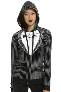 The Nightmare Before Christmas Merchandise Jack Skellington 3D Zip Up Hoodie