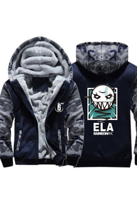Tom Clancy's Rainbow Six Siege Lesion ELAS Hoodie Thich Windter Jacket Camouflage