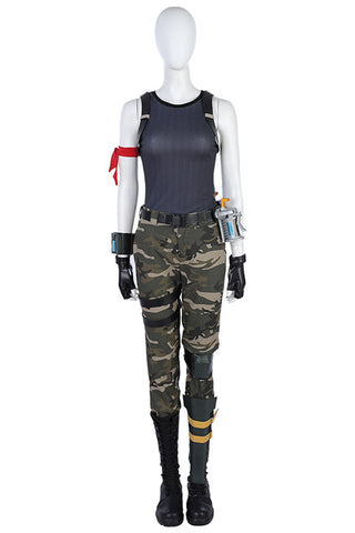 Video Game Fortnite Commando Cosplay Costume Female Outfit