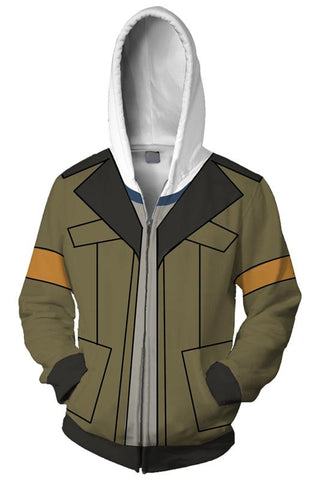 Voltron:Legendary Defender Hoodie Lance 3D Zip Up Sweatshirt Unisex