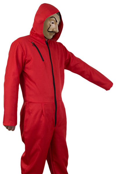 Money Heist Salvador Dali Halloween Jumpsuit Costume Spanish La casa de papel drama Cosplay