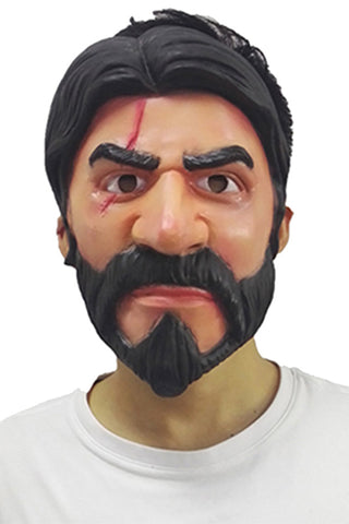 Fortnite The Reaper John Wick Mask Video Game Cosplay Props Latex