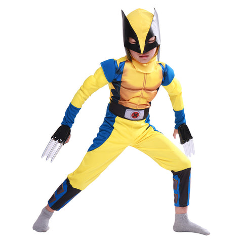 X-Men Origins: Wolverine Logan Howlett Jumpsuit Cosplay Costume For Kid