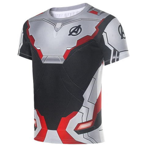 Avengers 4 Quantum Warrior Quantum Realm Short-Sleeved T-Shirt Round Neck Mesh Cloth
