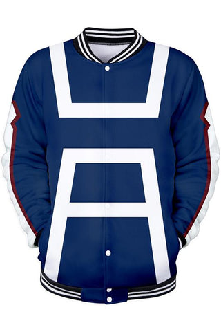 My Hero Academia Merchandies Hoodie Training Uniform 3D Baseball Sweatshirt