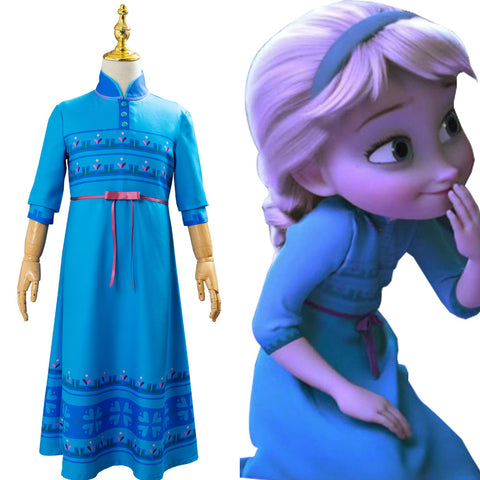 Princess Anna Frozen 2 Girls Fancy Dress Up Cosplay Costume For Kids