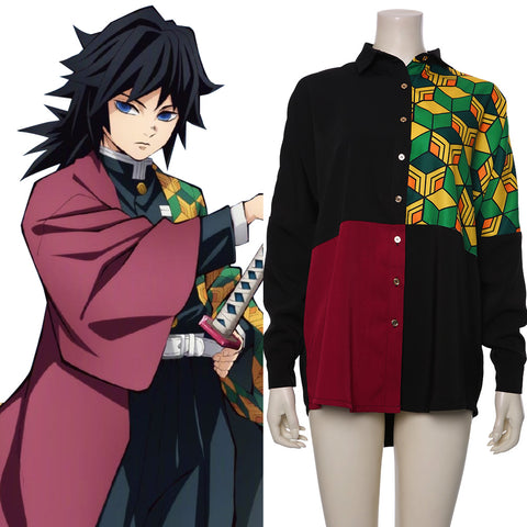Demon Slayer: Kimetsu no Yaiba Cosplay Tomioka Giyuu Shirt Cosplay Costume
