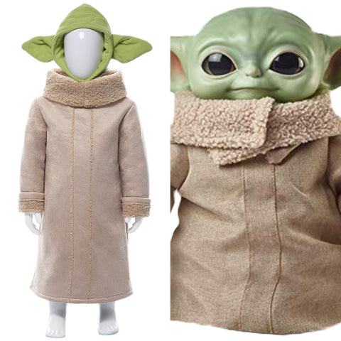 Star Wars The Mandalorian Yoda Baby Cosplay Costume For Kids Children