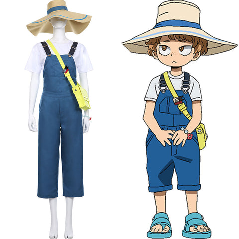 My Hero Academia Dungarees Jumpsuits T-shirt Katsuma Set Heroes: Rising Cosplay Costume
