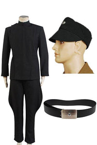 Star Wars Imperial Officer Black Uniform Costume + Hat + Belt