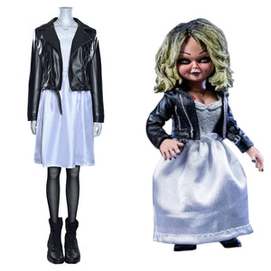 Bride of Chucky Tiffany Halloween Carnival Suit Cosplay Costume Coat Dress Outfits