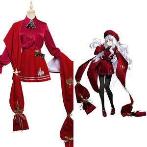 Fate/Grand Order FGO Caren Hortensia Halloween Carnival Suit Cosplay Costume Dress Outfits