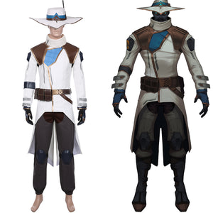 Game Valorant Cypher Cosplay Costume Halloween Coat Trousers Outfits